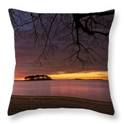 Sprite Island Sunrise Throw Pillow