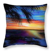 Wakulla Beach Morning Throw Pillow