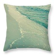 Walk Along The Beach Throw Pillow