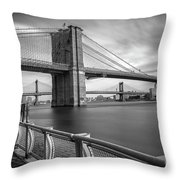 Walk Along The East River Throw Pillow