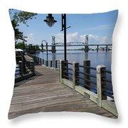 Walk Along The Fear River - Wilmington Throw Pillow