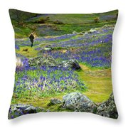 Walk Among The Bluebells Throw Pillow