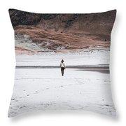 Walk At The Beach  Throw Pillow