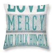 Walk Humbly- Tall Version Throw Pillow