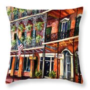 Walk In The French Quarter Throw Pillow