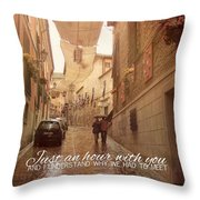 Walk In The Rain Quote Throw Pillow