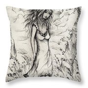 Walk In The Whispers Throw Pillow