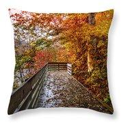 Walk Into Autumn Throw Pillow