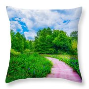 Walk Into Beauty Shaw's Nature Reserve Wet Lands Throw Pillow