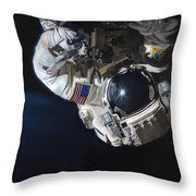 Walk Into Darkness  Throw Pillow