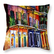 Walk Into The French Quarter Throw Pillow