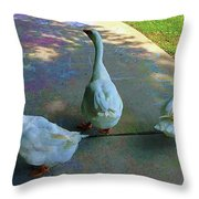 Walk On The Wildside Throw Pillow
