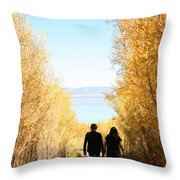 Walk To Mono Lake Throw Pillow