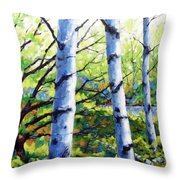 Walk To The Lake Throw Pillow