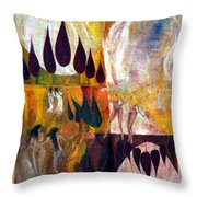 Walk Throw Pillow