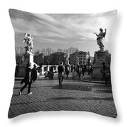 Walking Around Rome Throw Pillow