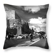 Walking Around The City Of Rome 2 Throw Pillow