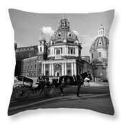 Walking Around The City Of Rome  Throw Pillow