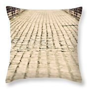 Walking Away Throw Pillow by Meirion Matthias