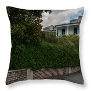 Walking City Throw Pillow