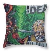 Walking Dead Deadpool Mash-up  Throw Pillow