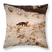 Walking Fox Throw Pillow