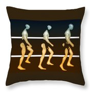 Walking In Line Throw Pillow