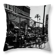 Walking In Seville - Spain Throw Pillow