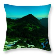 Walking In The Cascades Throw Pillow