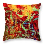 Walking In The Garden Throw Pillow