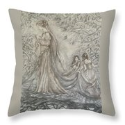 Walking In The Magic Garden Throw Pillow