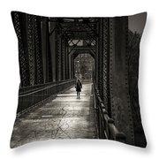 Walking In The Rain Throw Pillow