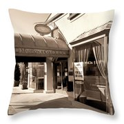 Walking Madison Throw Pillow by William Dey