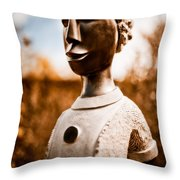 Walking On By Throw Pillow