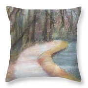 Walking The C And O Canal Throw Pillow