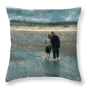 Walking On Water Throw Pillow