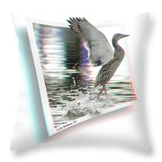Walking On Water - Use Red-cyan 3d Glasses Throw Pillow