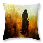 Walking Out From Chaos Throw Pillow