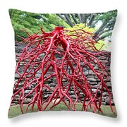 Walking Roots Sculpture 2 Throw Pillow