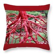 Walking Roots Sculpture Throw Pillow