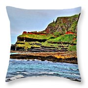 Walking The Causeway Throw Pillow by Beauty For God