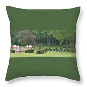 Walking The Course Throw Pillow