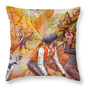 Walking The Dog 7 Throw Pillow