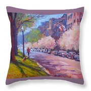 Walking The Dog Throw Pillow