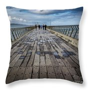 Walking The Pier Throw Pillow
