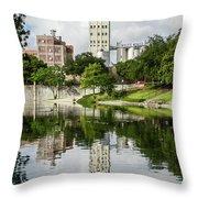 Walking The San Antonio River Throw Pillow