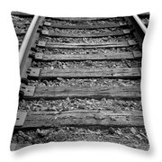 Walking The Track Throw Pillow