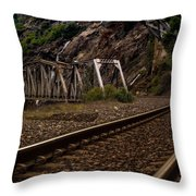 Walking The Tracks Throw Pillow