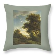 Walking Through The Forest Throw Pillow