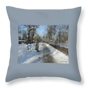Walking To Gether Throw Pillow